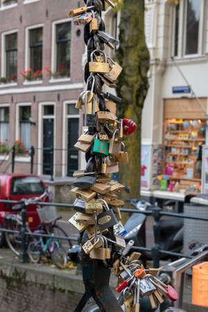 Love Locks On The Staalmeestersbrug Bridge Amsterdam The Netherlands 2019