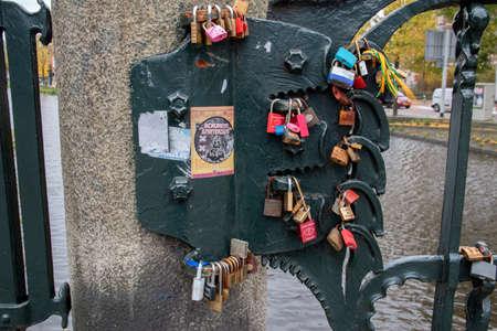 Love Locks On The Judith Leyserbrug At Amsterdam The Netherlands 2019