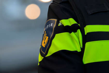 Close Up Of A Logo Of A Policeman At Amsterdam The Netherlands 2020