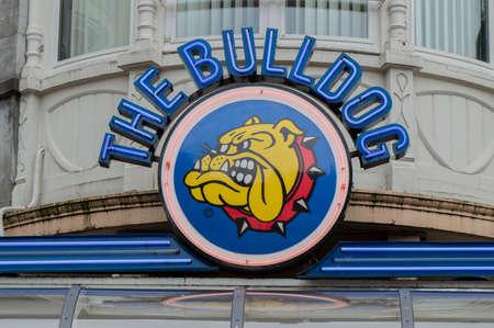 Billboard The Bulldog At The Leidseplein Amsterdam The Netherlands 2019 新聞圖片