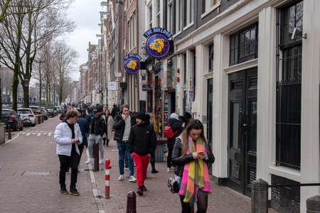Billboard The Bulldog Coffeeshop At Amsterdam The Netherlands 2020