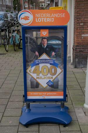 Billboard Staatsloterij At Amsterdam The Netherlands 2020 Redactioneel