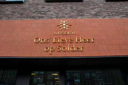 Billboard Museum Ons' Lieve Op Solder At Amsterdam The Netherlands 2020