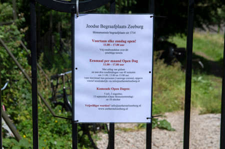 Poster Jewish Cemetery Zeeburg At Amsterdam The Netherlands 22-6-2020