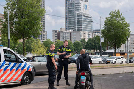 Moped Driver Given A Fine At Amsterdam The Netherlands 7/19/2020