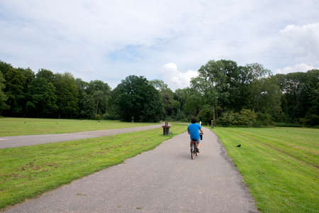 Cycling At The Amsterdamse Bos At Amstelveen The Netherlands 7/19/2020 Editorial