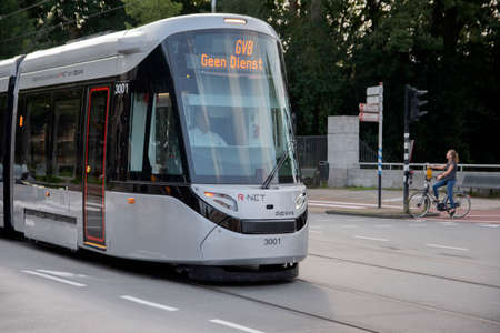 New Tram At Amsterdam The Netherlands 11-9-2020