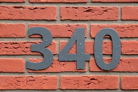 Close Up House Number At Bilthoven