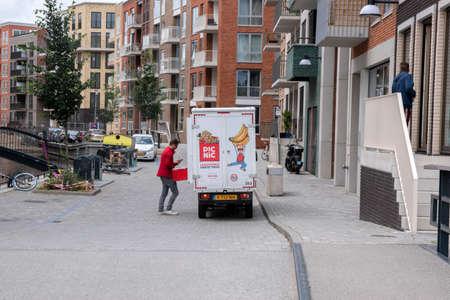 Picnic Mini Truck Delivering At Diemen The Netherlands 8-6-2020