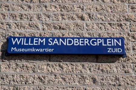 Street Sign Willem Sanderbergplein Street At Amsterdam The Netherlands 9-20-2020