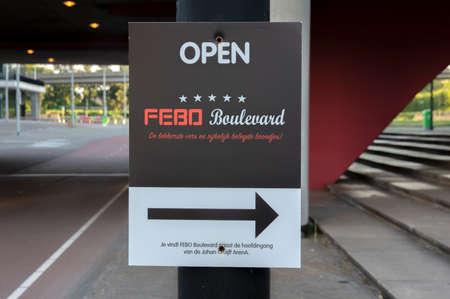 Billboard FEBO Boulevard At Amsterdam The Netherlands 24-6-2020 Editorial