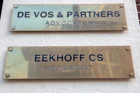 Billboard De Vos & Partners And Eekhof CS Notariaat At Amsterdam The Netherlands 10-8-2020