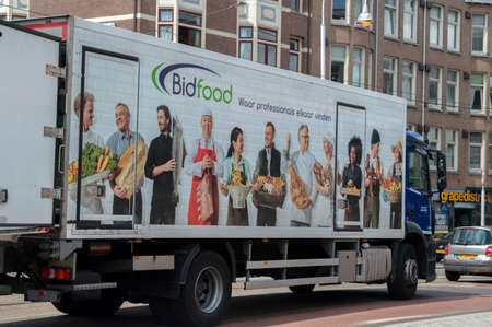 Bidfood Truck At Amsterdam The Netherlands 2-7-2020 Editorial