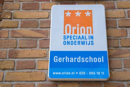 Billboard Orion Special Education Gerhardschool At Amsterdam The Netherlands 2-6-2020 Editorial
