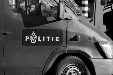 Police Logo On A ME Van At Amsterdam The Netherlands 21-9-2020