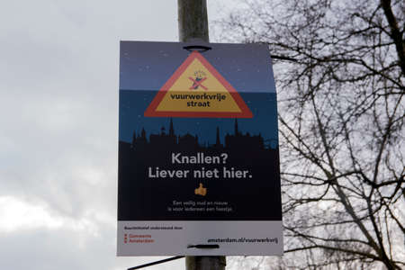 Billboard No Fireworks Allowed At Amsterdam The Netherlands 3/8/2020