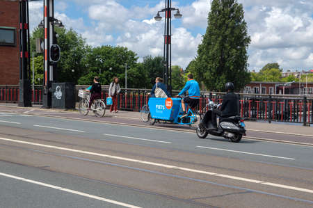 Cooblue Bicycle At The Berlagebrug Bridge Amsterdam The Netherlands 2-7-2020