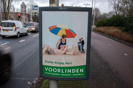 Billboard Voorlinden Museum And Garden At Amsterdam The Netherlands 11-12-2019 Editorial