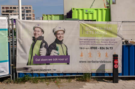 Billboard Improve The Safety For Construction Sites At Amsterdam The Netherlands 18-4-2019