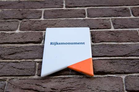 Information Sign National Monument At Baambrugge The Netherlands 12-10-2020