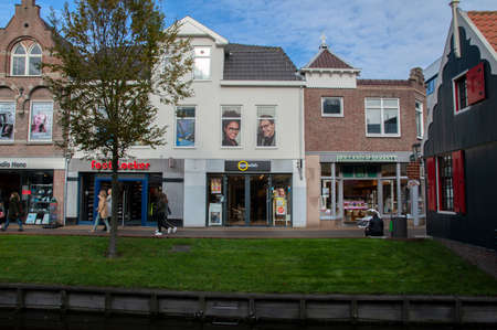 Shops At The Gedempte Gracht Canal At Zaandam The Netherlands 23-10-2019