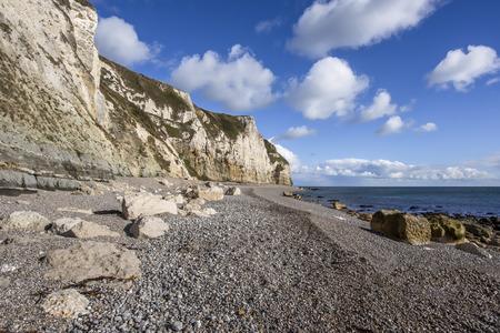 Branscombe Beach in Devon in South-West England