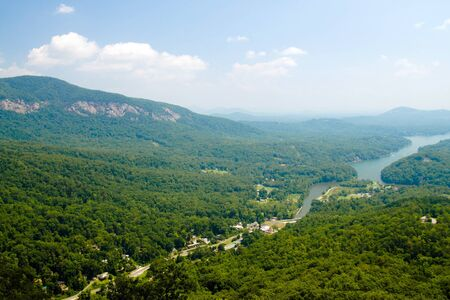 asheville: View from top of Chimney Rock near Asheville, North Carolina