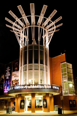 aquarium visit: CHATTANOOGA, TN - OCT. 8: Facade of IMAX theater at the Tennessee Aquarium in Chattanooga, TN, on Oct. 8, 2011. The aquarium welcomes more than 1 million visitors every year.