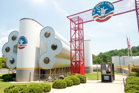 attended: HUNTSVILLE, AL. - JULY 3:Entrance to U.S. Space Camp in Huntsville, AL, on July 3, 2011. More than 500,000 students have attended the camp since 1982.