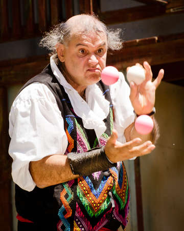 ATLANTA - APRIL 23: Performer juggling at the annual Renaissance Festival in Atlanta on May 21, 2011. The festival is a popular annual tourist attraction in the Southeast. Stock Photo - 13289598