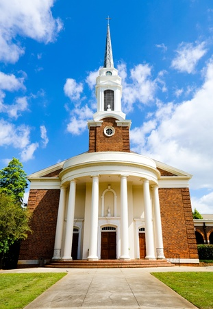 baptist: Historic church with Greek revival architecture Stock Photo