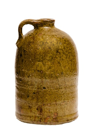 Antique Depression-era clay pitcher Stock Photo - 13476185