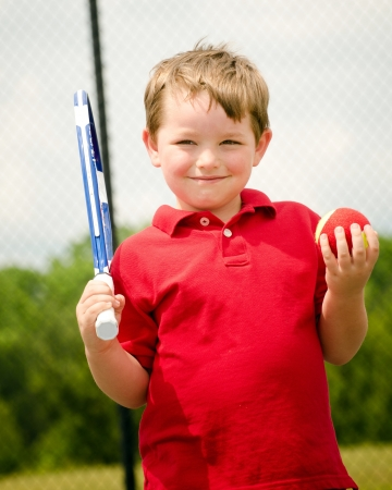 Portrait of young tennis player Stock Photo - 13628736