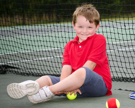 Portrait of young tennis player photo