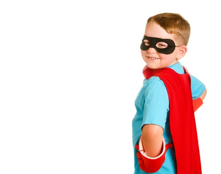 Child pretending to be a superhero Stock Photo - 13799293