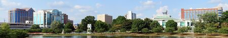 alabama: Panoramic cityscape of downtown Huntsville, Alabama from Big Spring Park