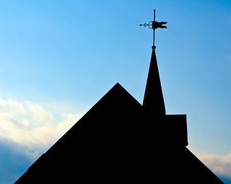 Silhouette of roof of historic building with weather vane in Huntsville, Alabama Stock Photo - 14522658