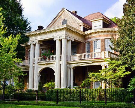 Maison historique à l'architecture du Sud renaissance grecque Banque d'images - 14522668