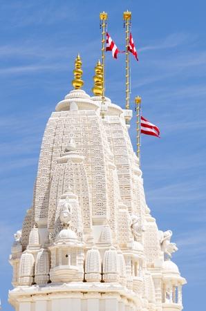 atlanta tourism: Tower at Hindu temple in Atlanta, GA