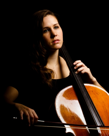 cellist: Young woman cello player