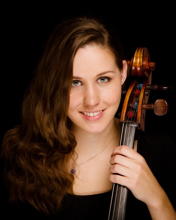 Young woman cello player photo