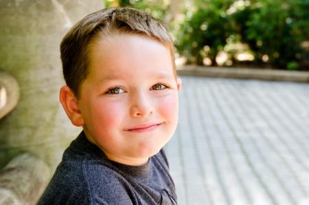 Portrait of child at city park
