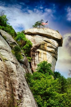 Chimney Rock at Chimney Rock State Park in North Carolina, USA  photo