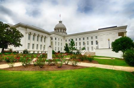 Bekijk van State Capitol in Montgomery, Alabama Stockfoto