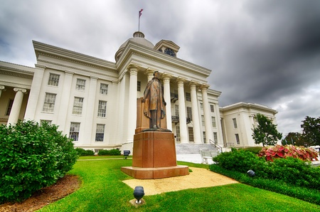 montgomery: View of state capitol in Montgomery, Alabama