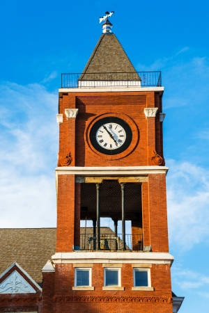municipal court: Clock tower of historic small town court house building in Dallas, GA