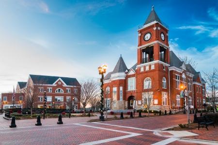 ダラス、ジョージア州の町の広場
