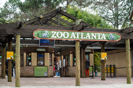 roughly: ATLANTA - DECEMBER 26, 2013  Entrance to Zoo Atlanta   The zoo houses more than 1,500 animals and welcomed roughly 866,000 visitors a year