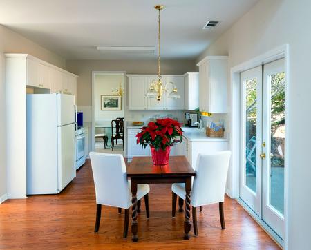 Modern eat in kitchen home interior Stock Photo - 26048294