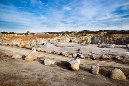 quarries: Rock quarry scene in Georgia